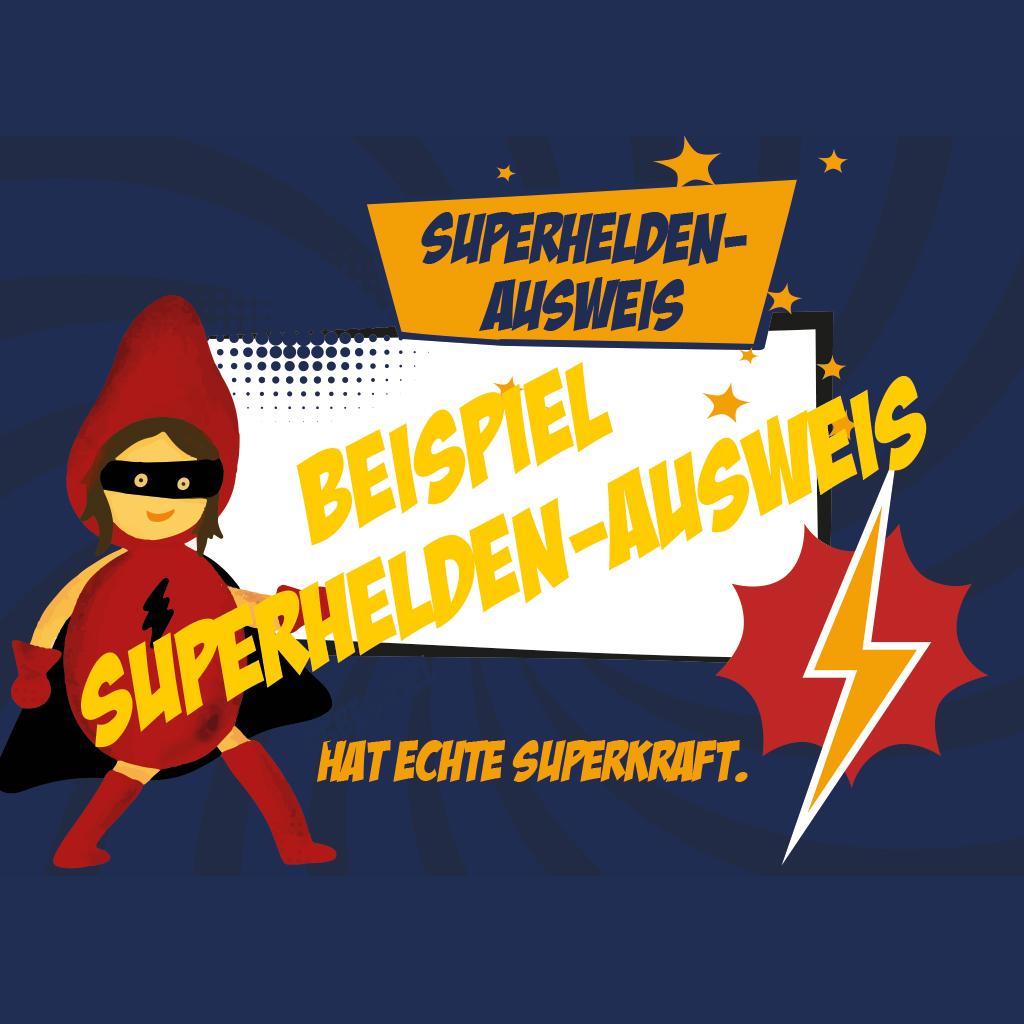 Schatzkisten füllen: Beispiel_Superhelden-Ausweis
