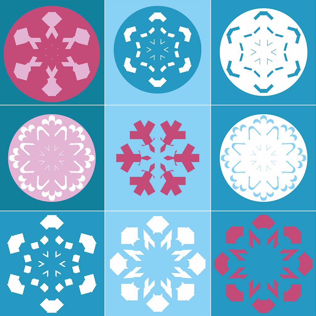 Schneeflocken-Memory Motive 2
