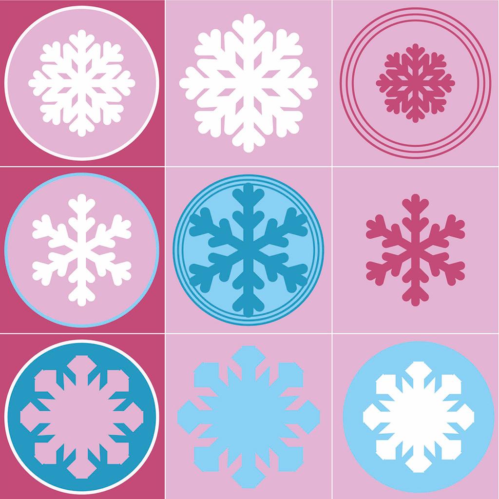 Schneeflocken-Memory Motive 1