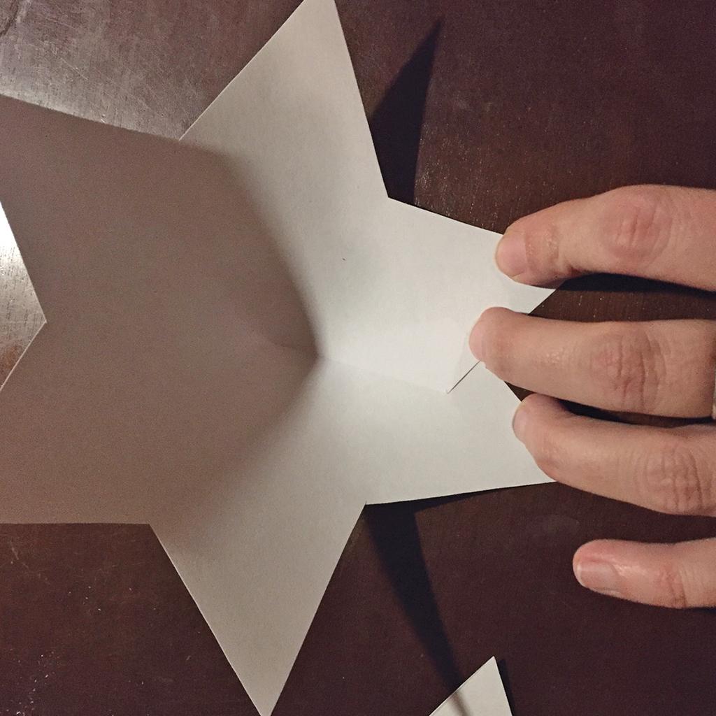 Versteck für Schatzsuchen-Hinweise: Sterne falten