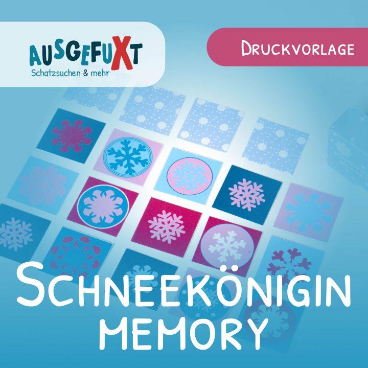 Schneeflocken-Memory: Kostenlose Druckvorlage
