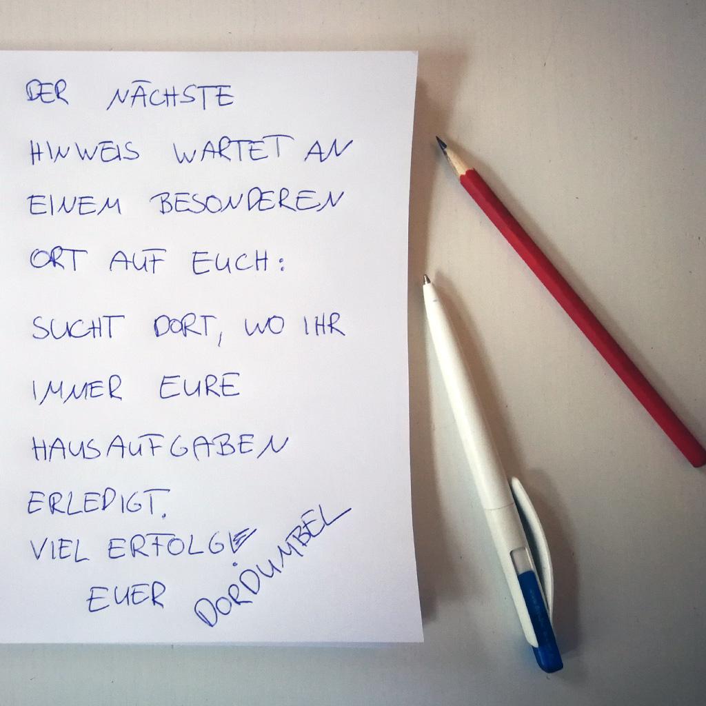 Unsichtbare Schrift - Schreiben Sie Ihren Text