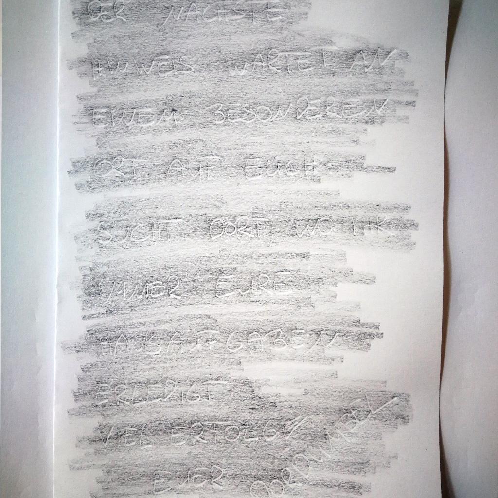 Unsichtbare Schrift - Fertig