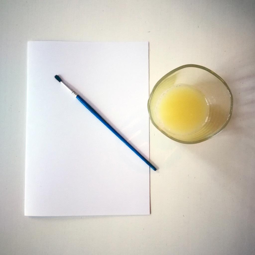 Unsichtbare Schrift - Zitronensaft