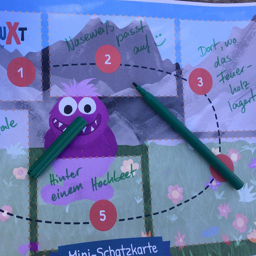 Mini-Bildungs-Schatzsuche: Hinweise auf die Rätsel