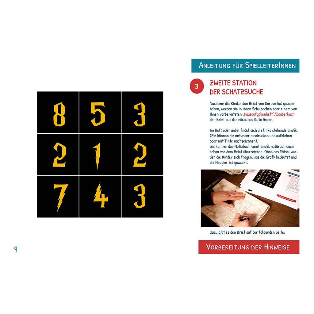 Zauberer-Schatzsuche zum Kindergeburtstag: Rätsel an der zweiten Station