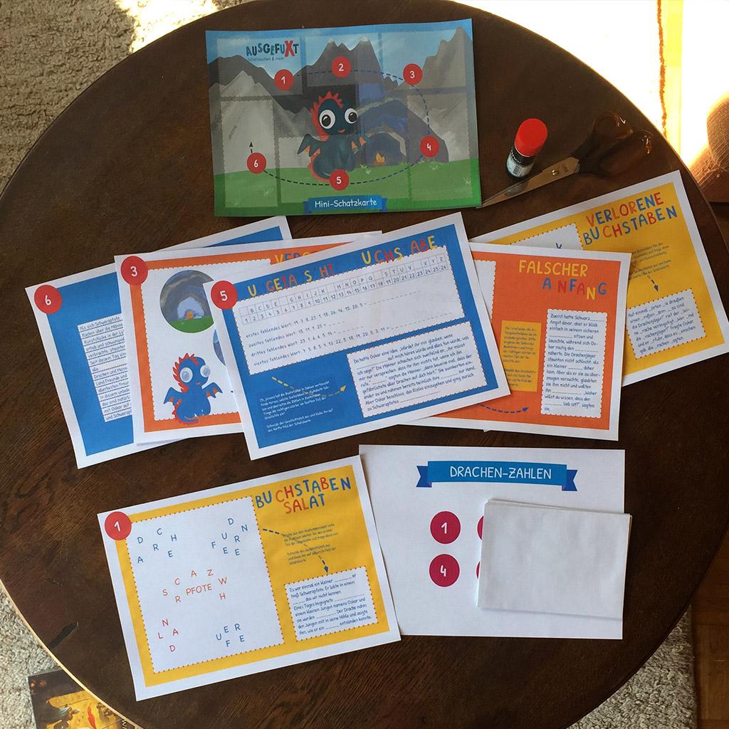Bildung und Spaß: Mini-Schatzsuche vollständig ausgedruckt