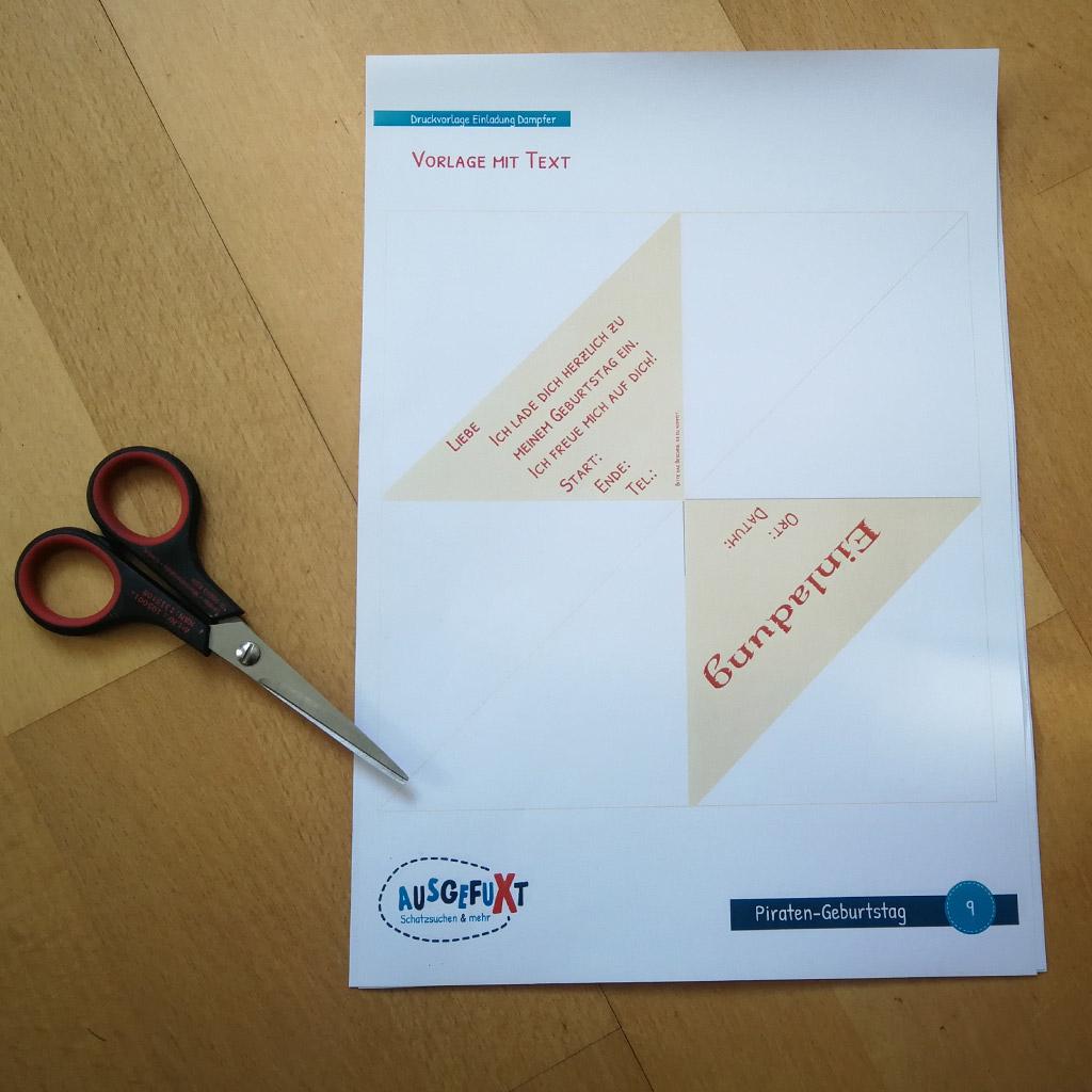 Einladungen für Kindergeburtstage: Schritt 1