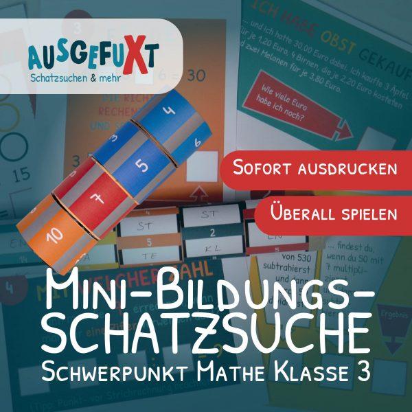 """Mini-Bildungs-Schatzsuche """"VerfliXte Rolle"""" Klasse 3"""