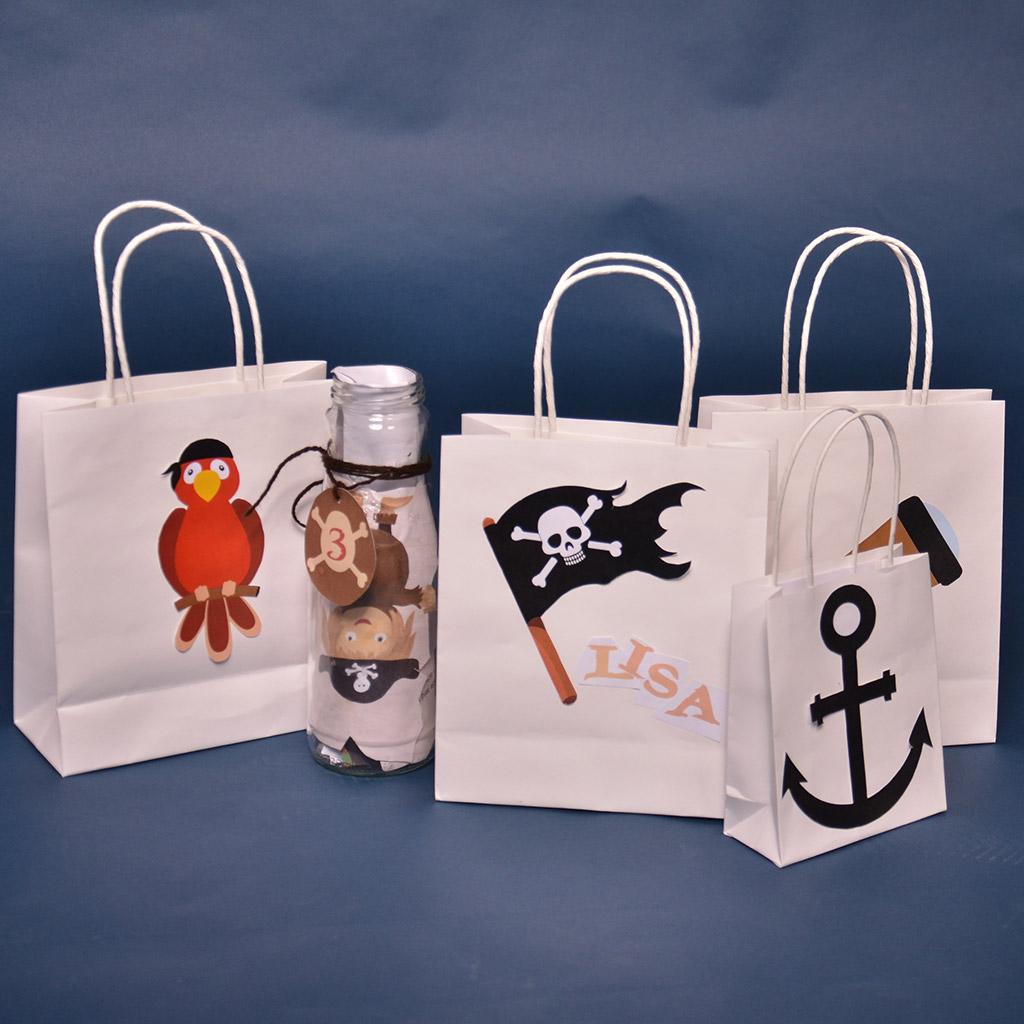 Kostenlose Druckvorlage: Piraten Symbole