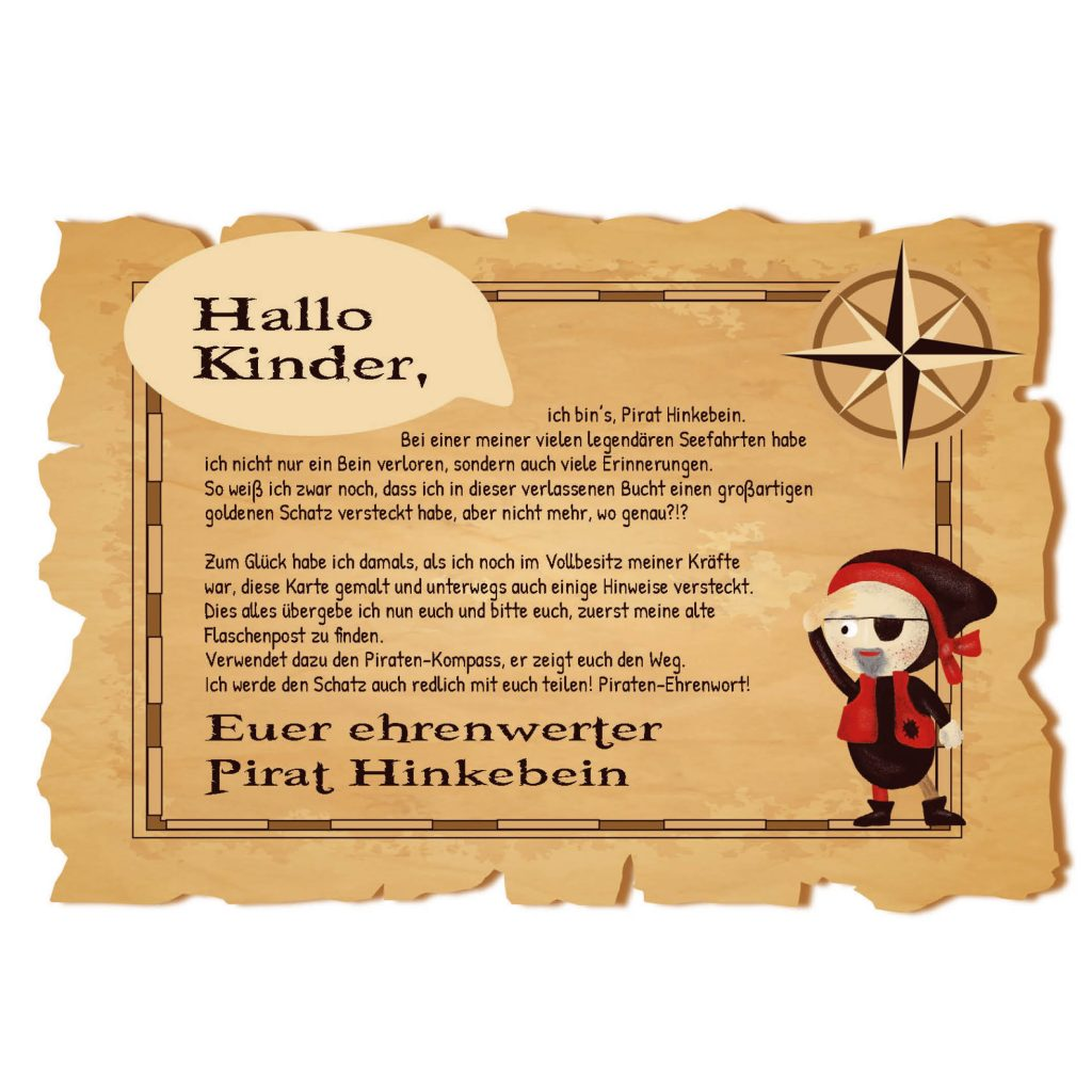 Piraten-Schatzsuche: erster Brief von Hinkebein