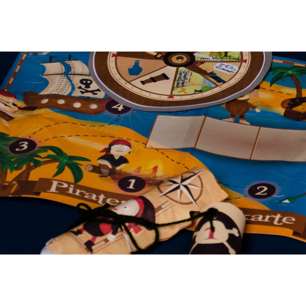 Ausschnitt Piraten-Schatzkarte