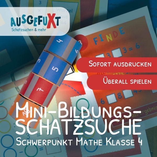 """Mini-Bildungs-Schatzsuche """"VerliXte Rolle"""" Klasse 4"""
