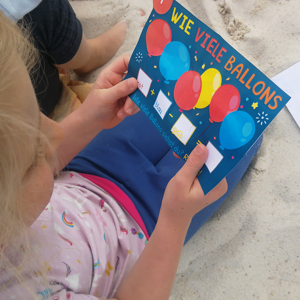 Mathe-Schatzsuche: Ballon-Aufgabe