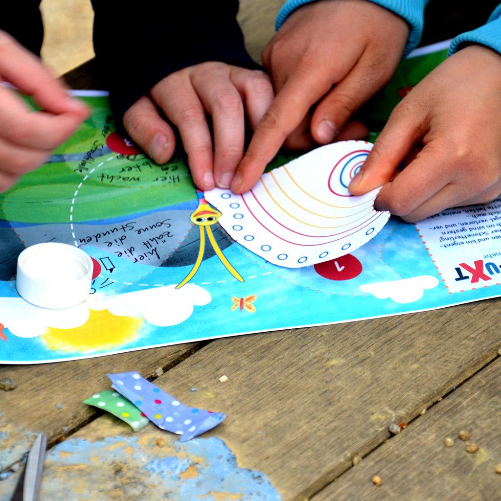 """Mini-Bildungs-Schatzsuche für Kindergartenkinder: """"Tausendschön sucht ihre Flügel"""": Der erste Flügel ist gefunden."""