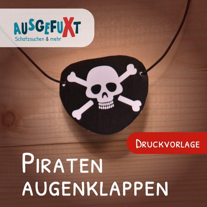 Piraten-Augenklappen: Kostenlose Druckvorlage
