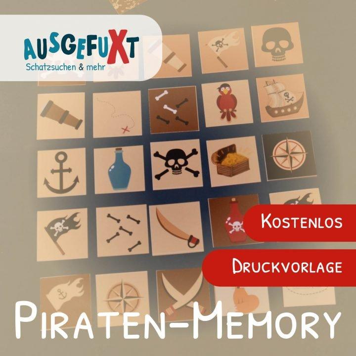 Piraten-Memory: Kostenlose Druckvorlage