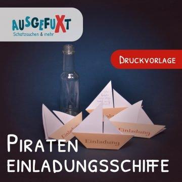Kostenlose Druckvorlage: Piraten-Einladungen für Kindergeburtstage