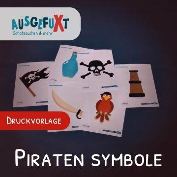 Kostenlose Druckvorlage: Piraten-Symbole