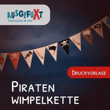 Kostenlose Druckvorlage: Piraten-Wimpelkette