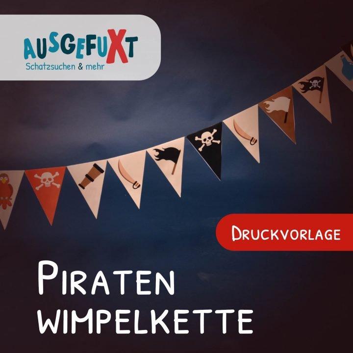 Druckvorlage für eine Piraten-Wimpelkette