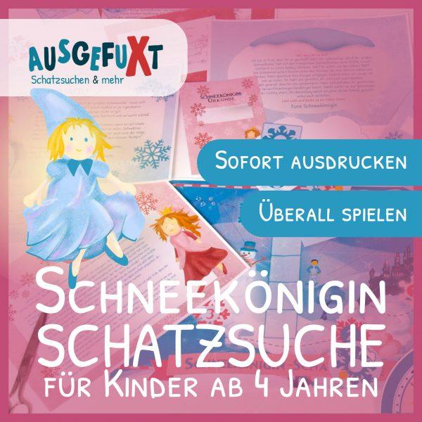 """Schneekönigin-Schatzsuche """"Die magische Schneeflockensuche"""""""