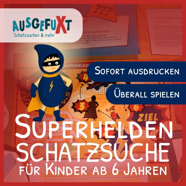 "Superhelden-Schatzsuche ""Superhelden-City in Gefahr"""