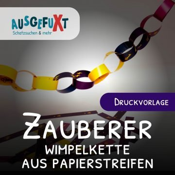 Zauberer-Wimpelkette aus Papierstreifen