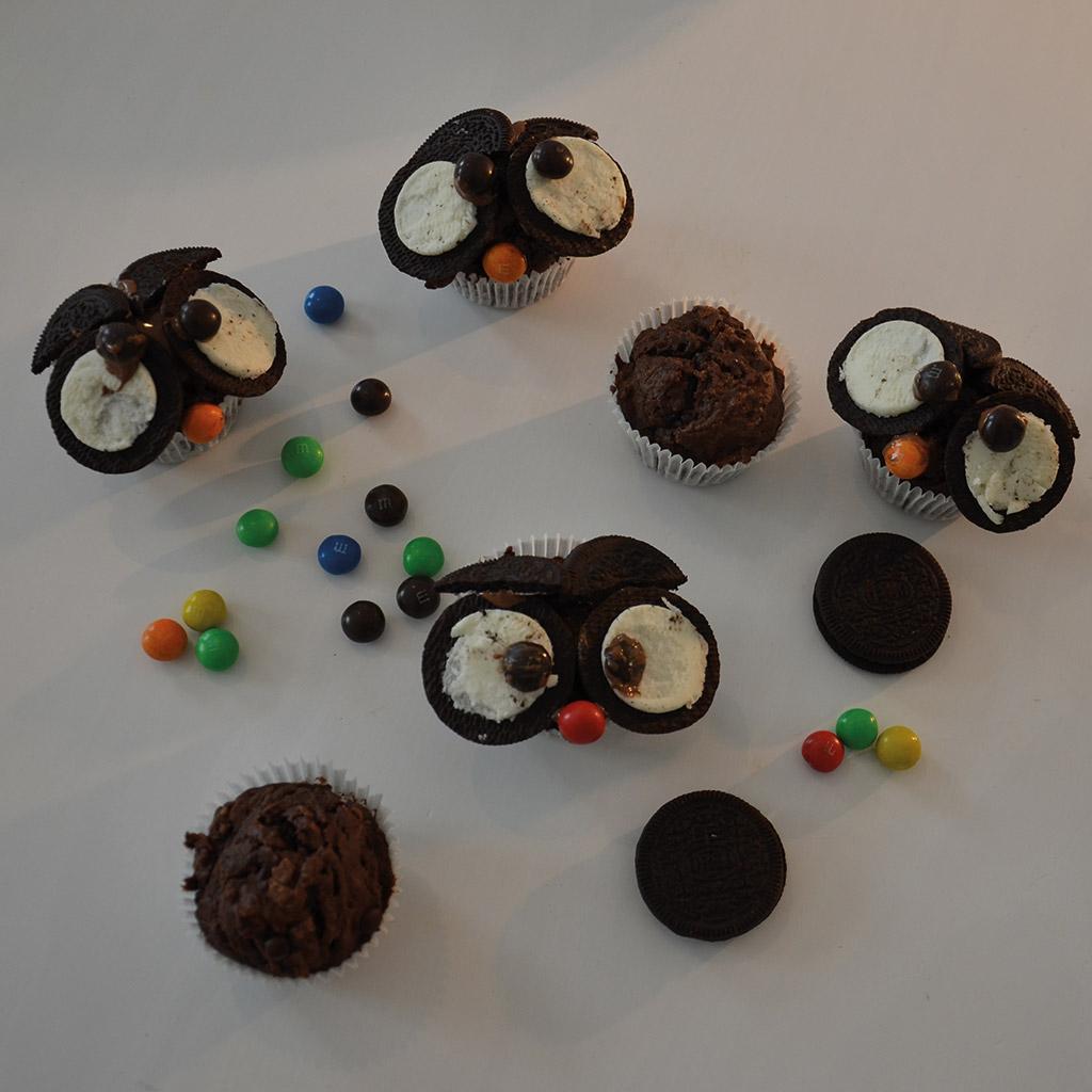 Eulen-Muffins für kleine Zauberer: Fertig.