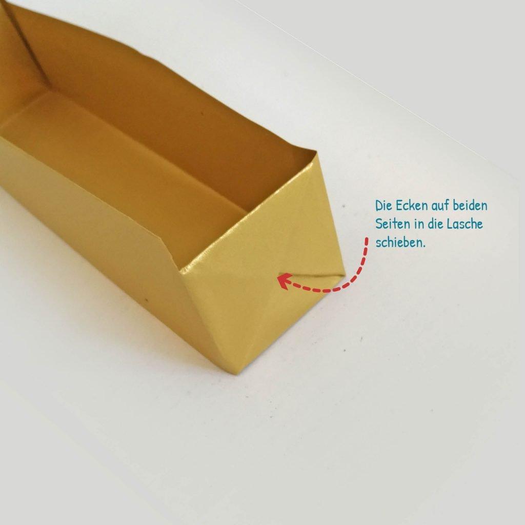 Goldbarren basteln: Schritt 12