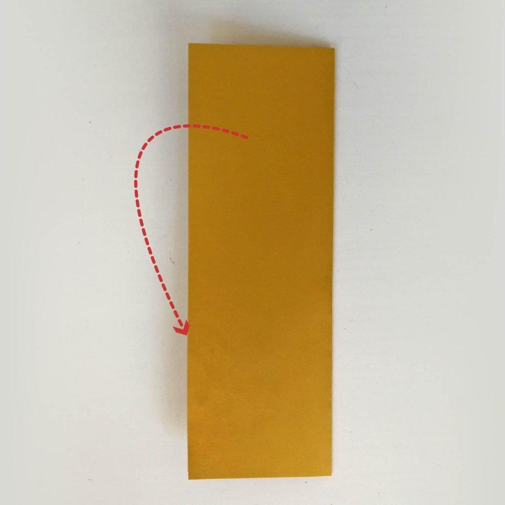 Goldbarren basteln: falten