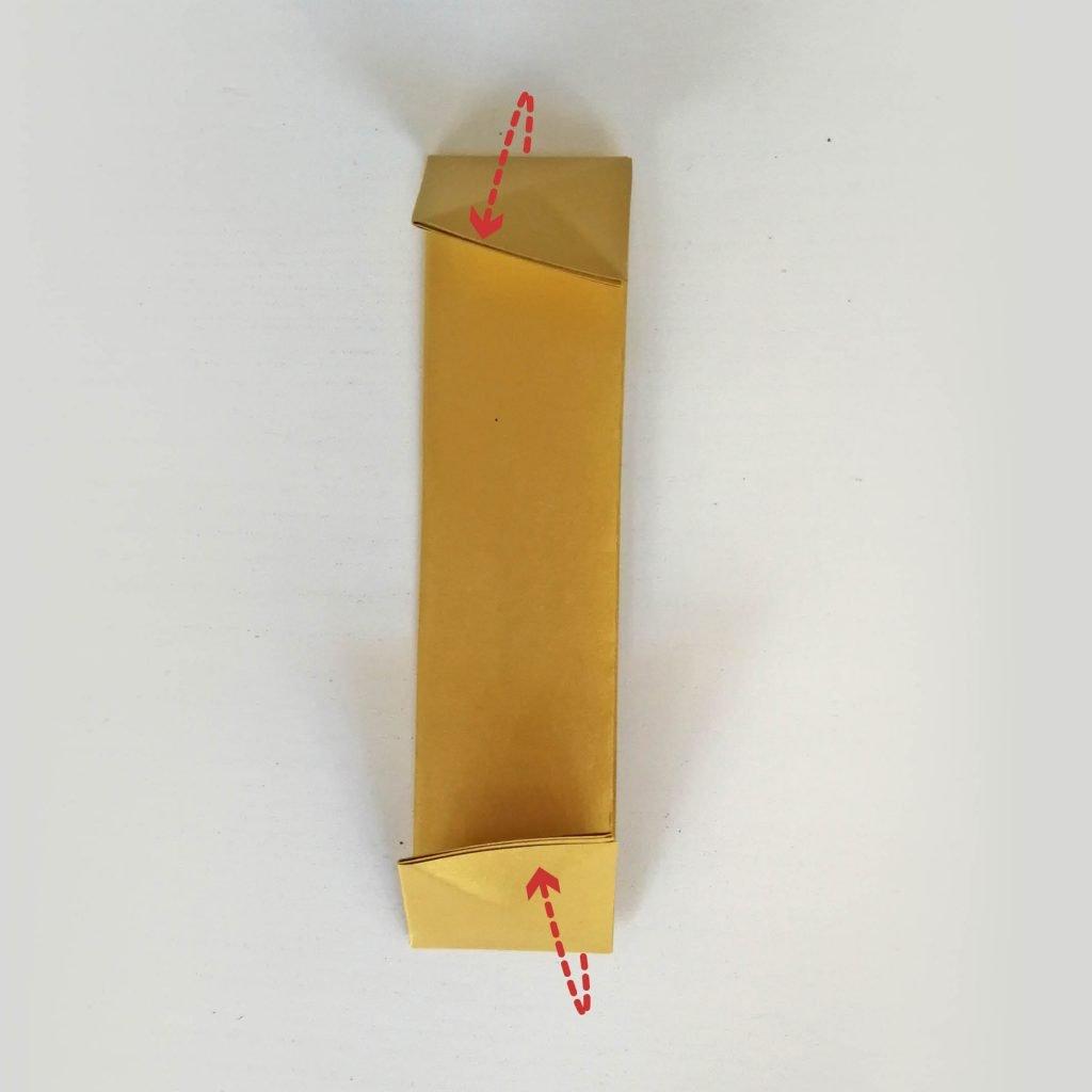 Goldbarren basteln: Schritt 5