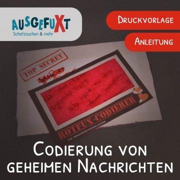 """Codierung von geheimen Nachrichten - Der """"RotfuX-Codierer"""""""