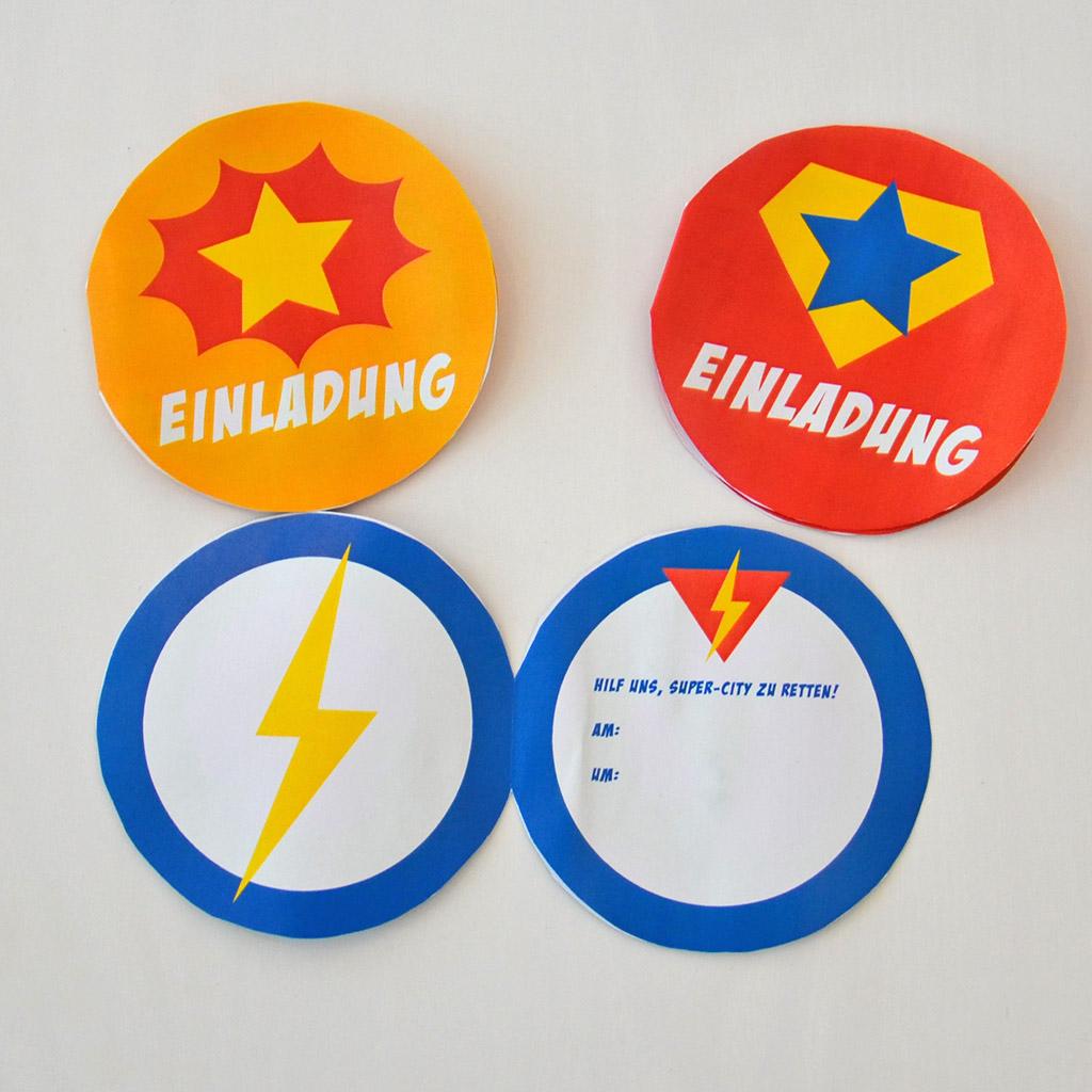 Superhelden-Einladung: Beispiele