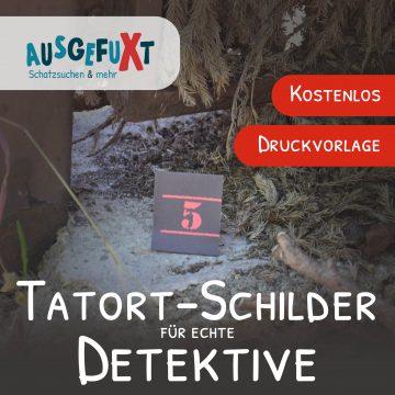 Tatort-Schilder zum Ausdrucken