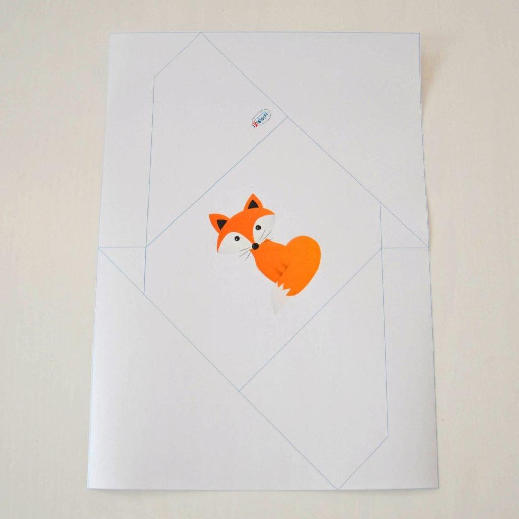 Einfache Briefumschläge basteln: Ausdrucken