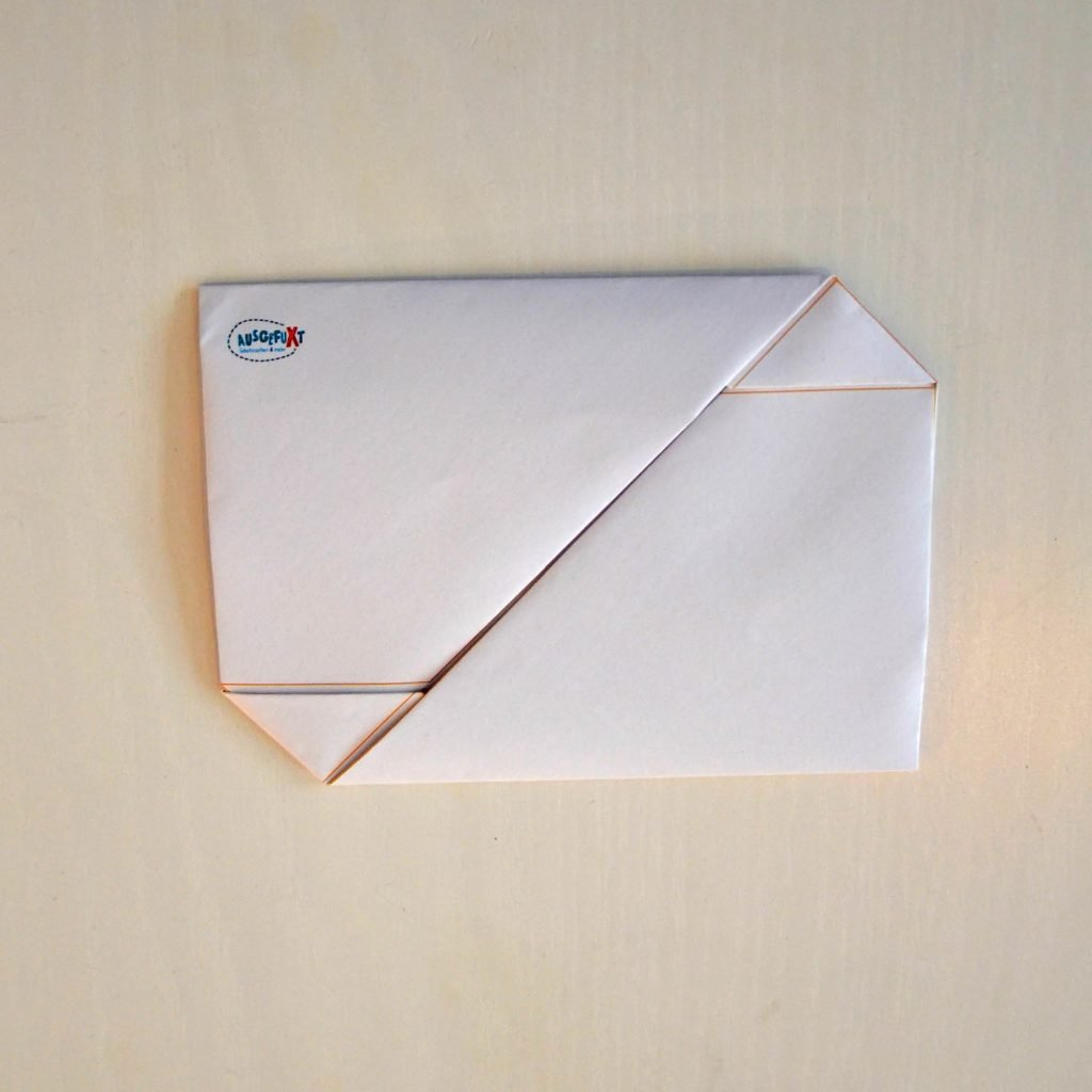 Einfache Briefumschläge basteln: Rückseite