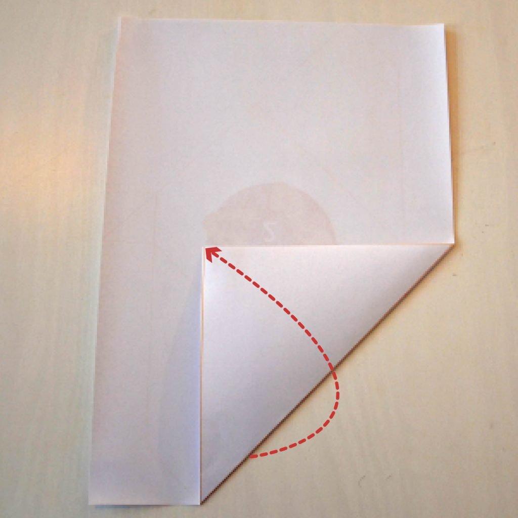 Briefumschläge selber machen: Schritt 1