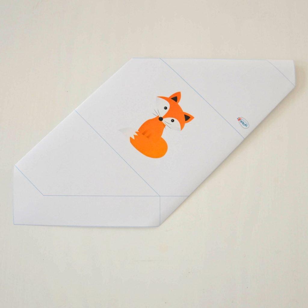 Einfache Briefumschläge basteln: Kontrolle nach Schritt 3
