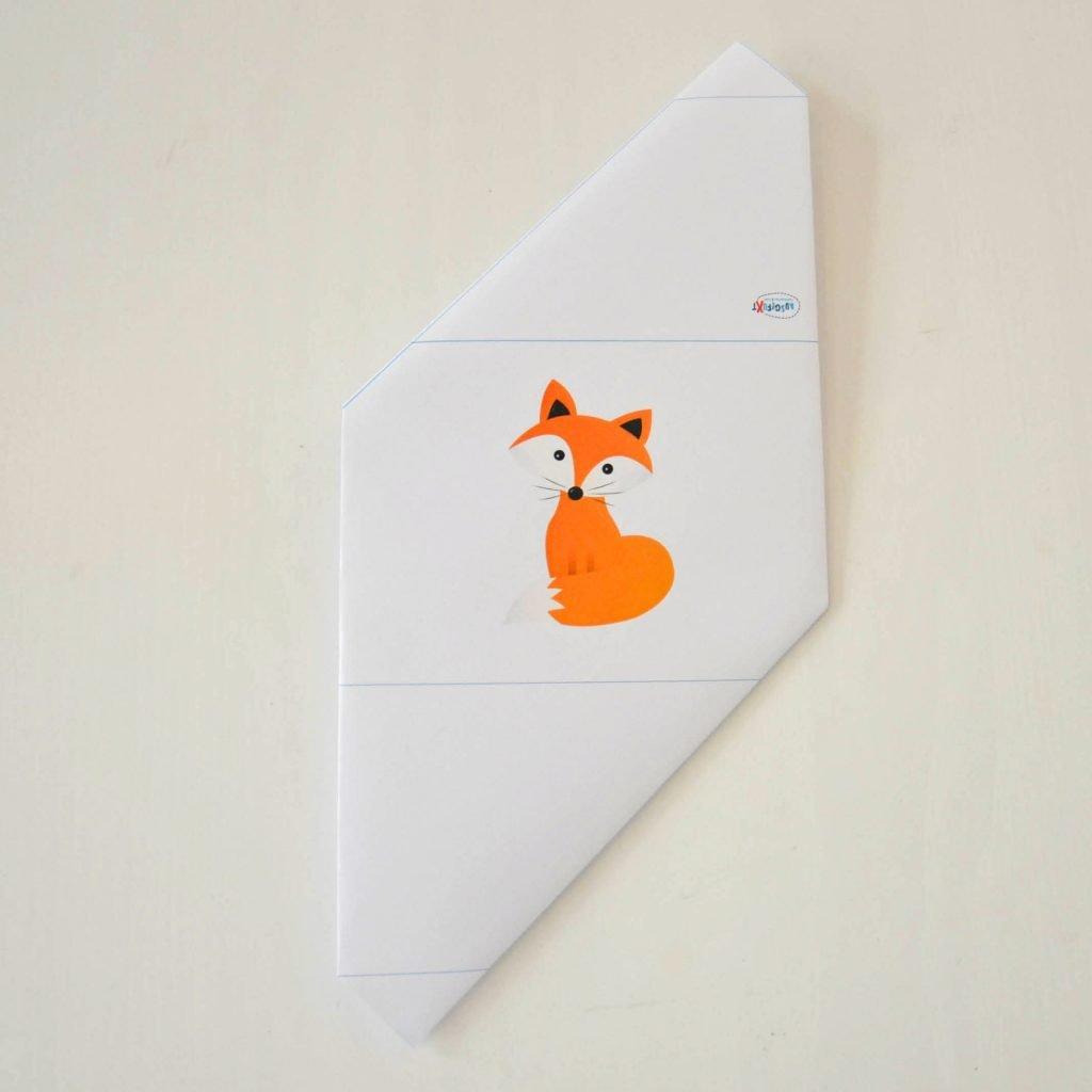 Einfache Briefumschläge basteln: Kontrolle nach Schritt 4