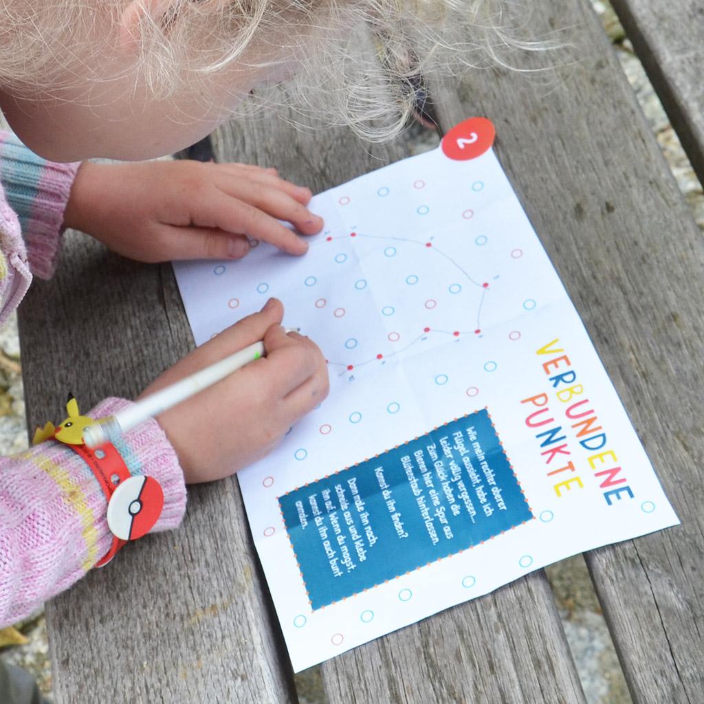 Schatzsuche für 5-jährige Kinder: Zahlenrätsel