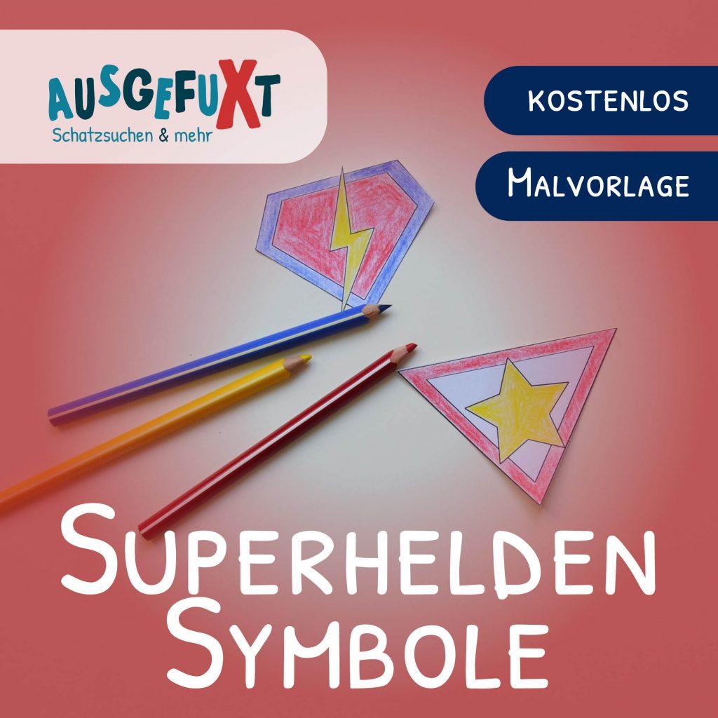 Superhelden-Symbole zum Ausmalen