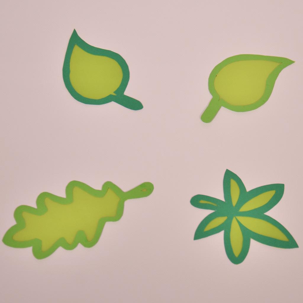 Fensterbilder-Vorlagen für Blätter