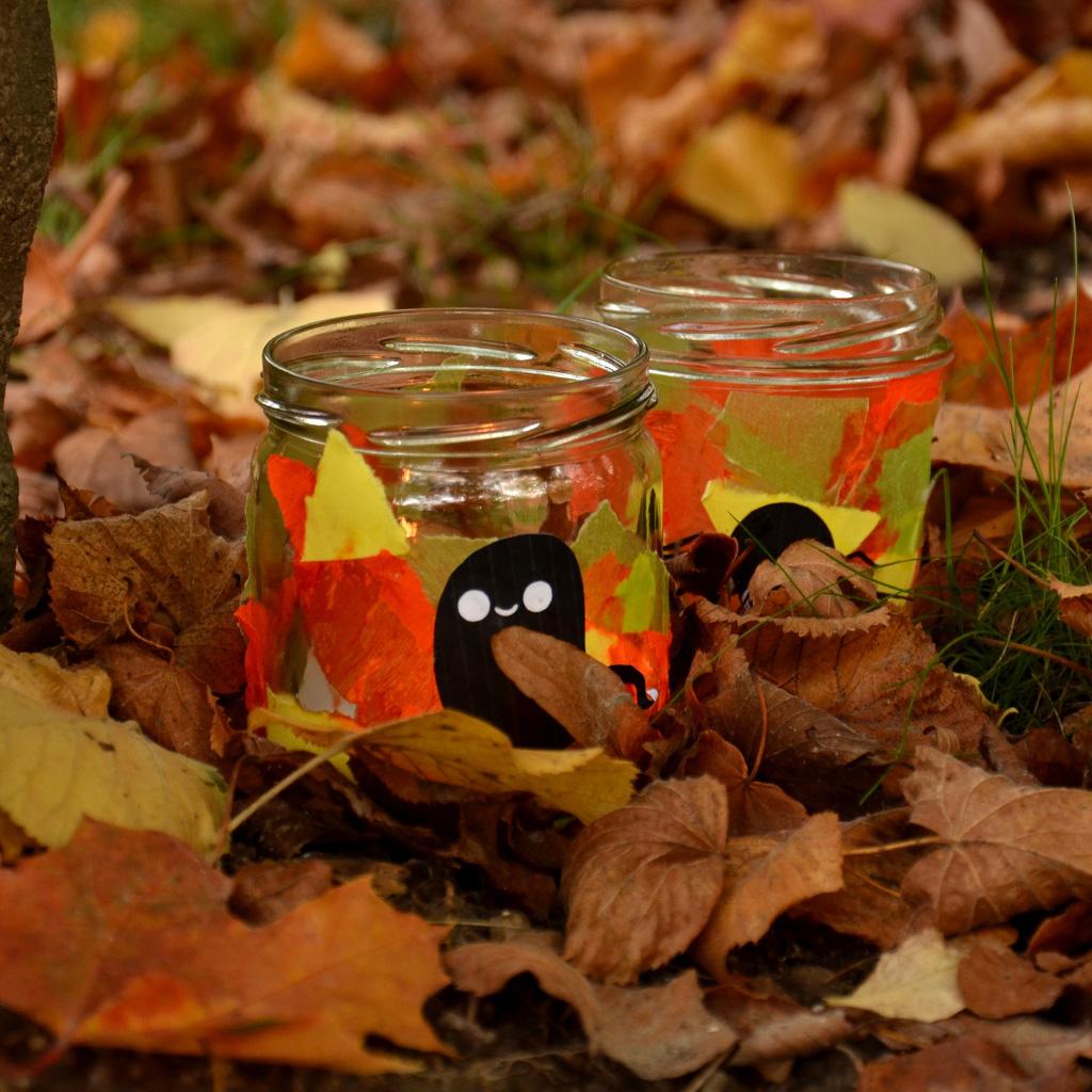 Fertige Halloween-Windlichter