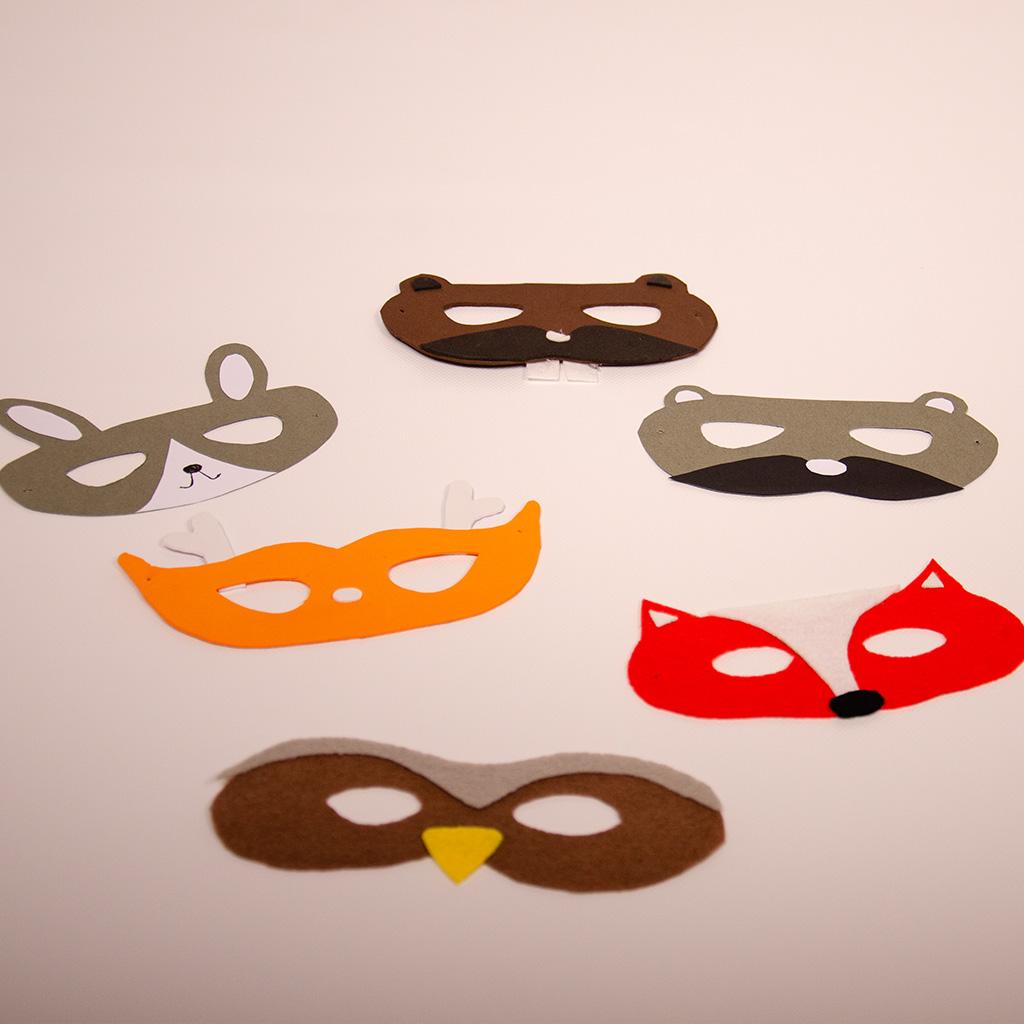 Tiermaske basteln: Die Auswahl