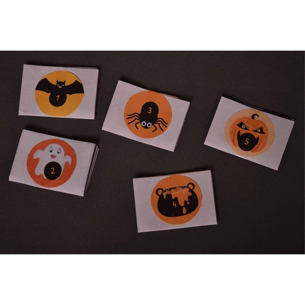 Halloween-Zahlen für die Rätsel-Verstecke