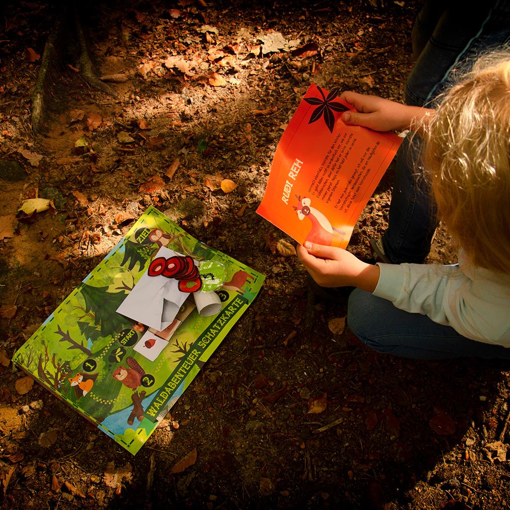 Wald-Schatzsuche für Kinder ab 6 Jahren