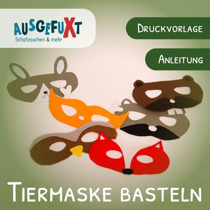 Tiermaske basteln: Vorlage für Fuchs und Co.