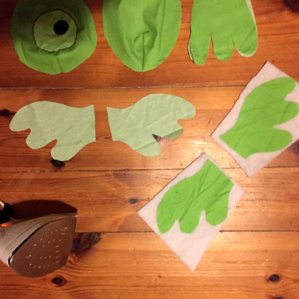 Kuscheltier nähen: Flügel vorbereiten