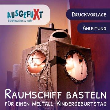 Raumschiff basteln: Druckvorlage und Anleitung